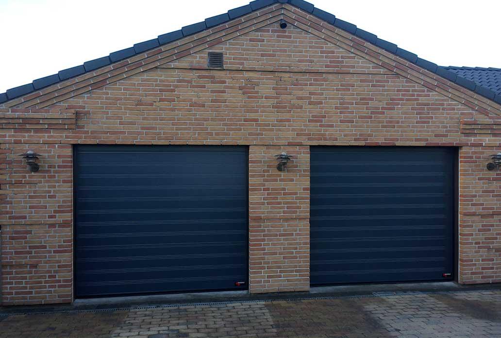 Nassau classic garage doors in black examples