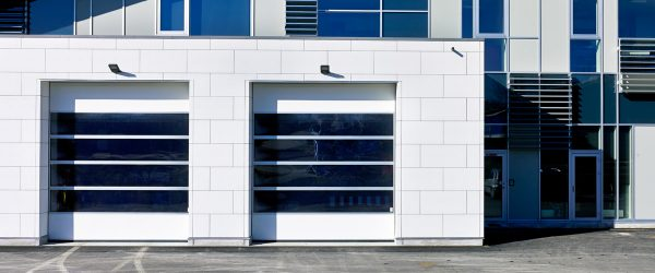 NASSAU energy sectional door in white colour white walls