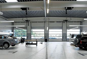 Nassau Energy car workshop white