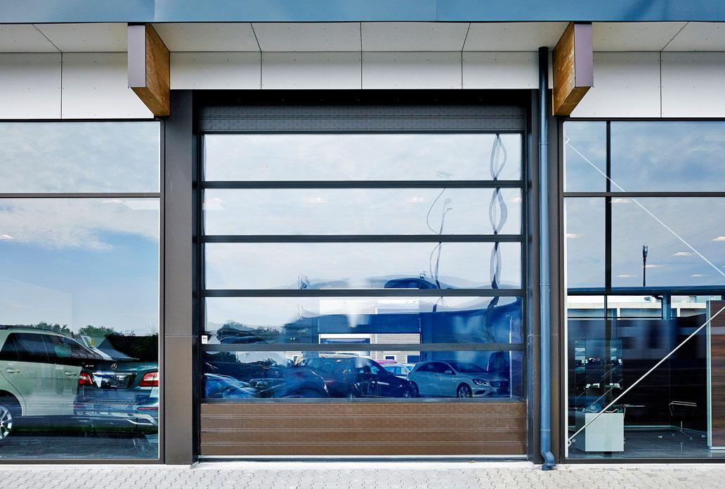 Nassau energy sectional door car exhibit example