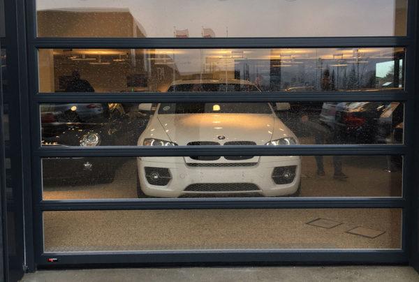 NASSAU panorama sectional door for a car exhibit example image