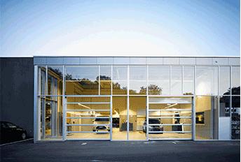 Nassau panorama sectional door car gallery example