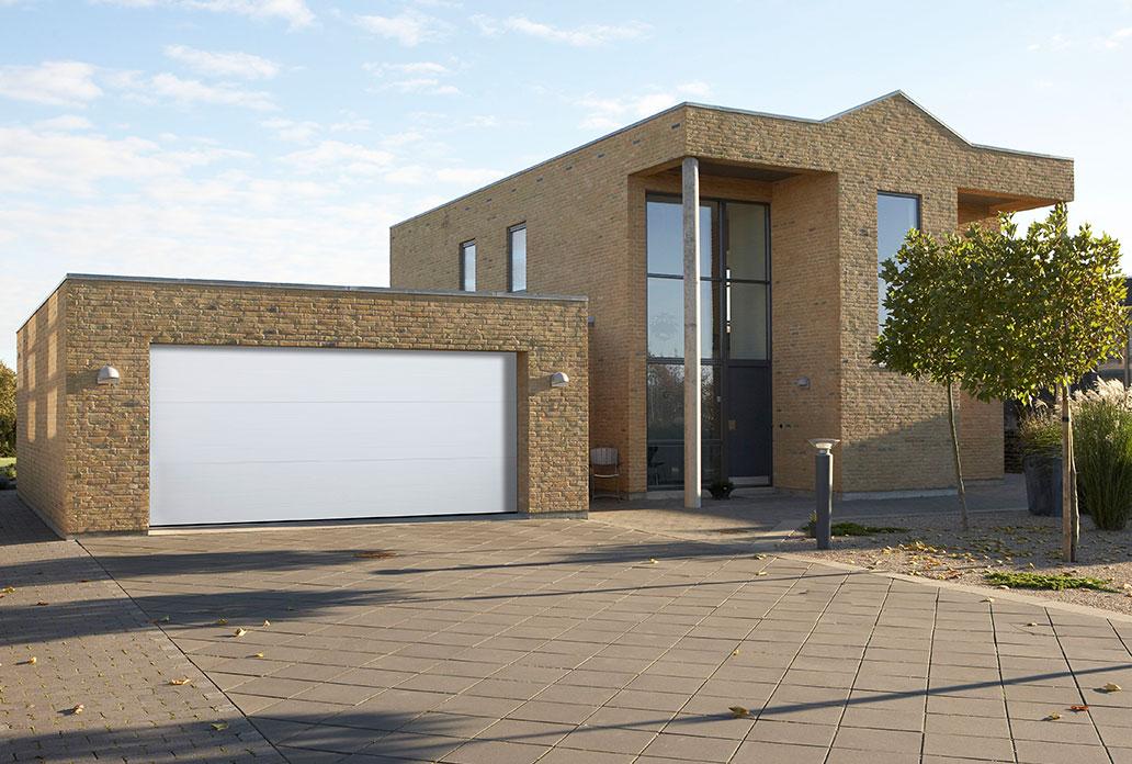 white softline granite garage door with no windows