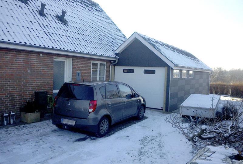 NASSAU classic white garage door with two windows