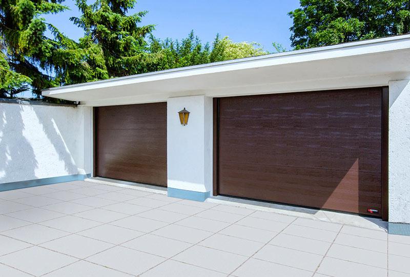 NASSAU brown woodgrain garage door inspiration gallery
