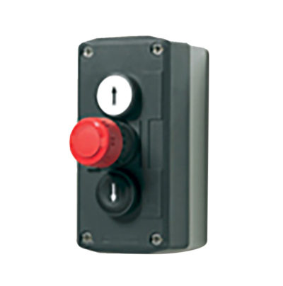3-button push button box