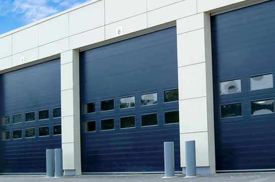 Blue NASSAU 8000 energy-saving sectional door