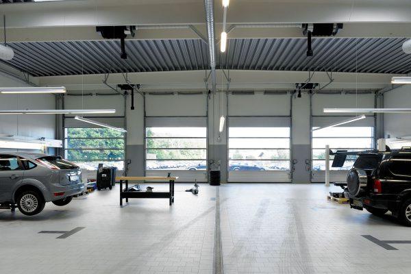 industrial door workshop example