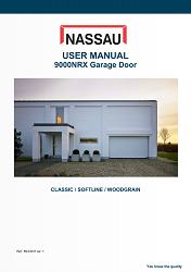 Installation instructions for a NASSAU garage door