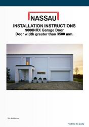 NASSAU installation instructions door width greater than 3500mm