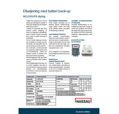 NASSAU product data paper