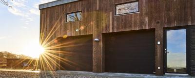 NASSAU garage door on wooden house