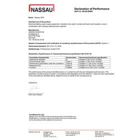 NASSAU UPS certificate